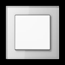Выключатель одноклавишный A Creation 500 стекло / Белый